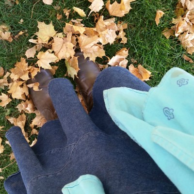 A beautiful fall day at the Farmers Market wearing my baby.
